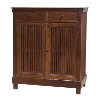 Antique Sarreid LTD Gemillia Wood Safe Cabinet