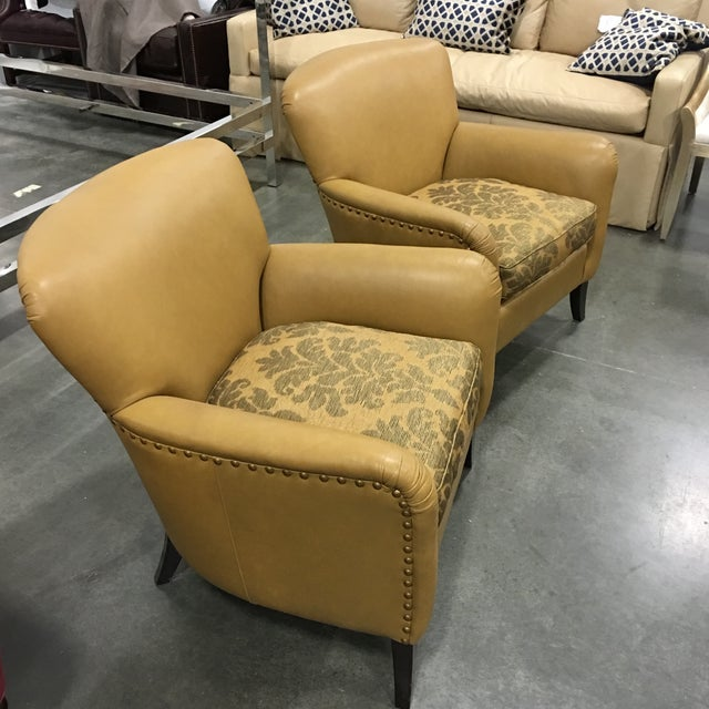Leathercraft Tan Chairs - A Pair - Image 4 of 8