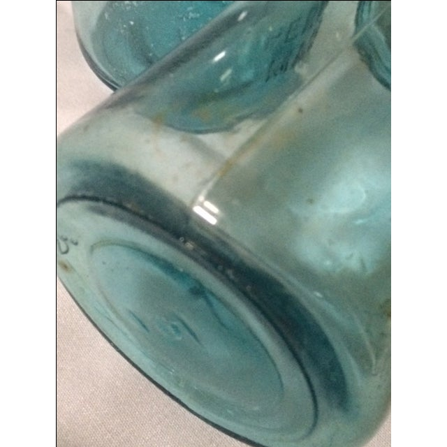 Image of Vintage Blue Ball Jars With Tin Lids - 2