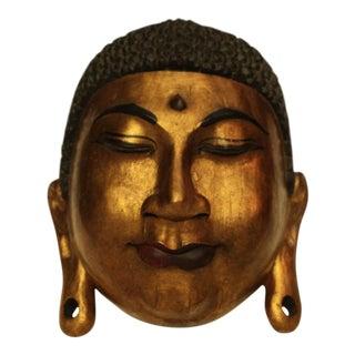 Carved Wood Buddha Mask