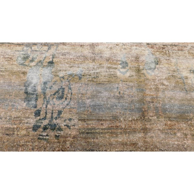 """Abstract Hand-Knotted Rug - 8′ × 9′11"""" - Image 2 of 10"""