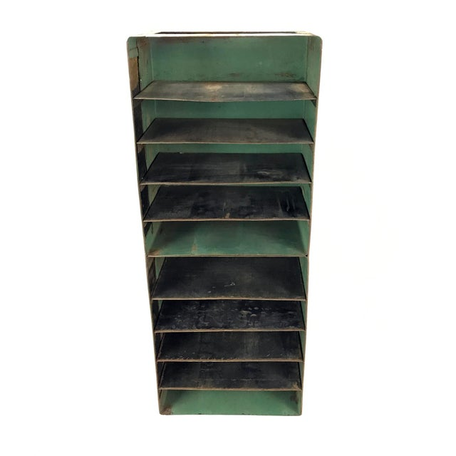 Vintage Industrial Slotted Shelf Organizer - Image 5 of 6