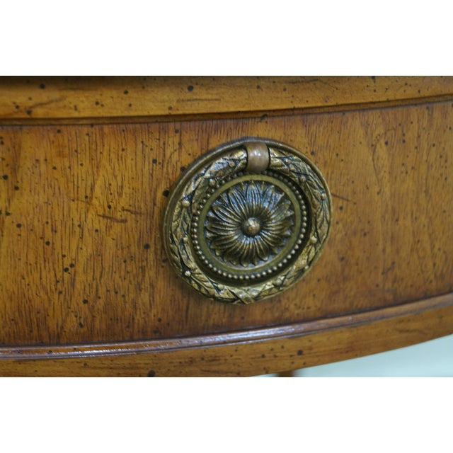 Henredon French Louis XVI Walnut Tables - A Pair - Image 4 of 10