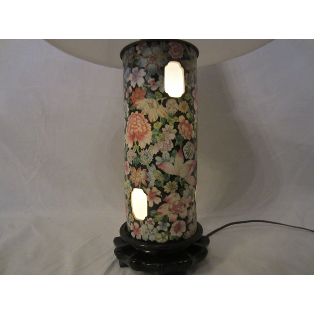 Asian Inspired Lamps With Night Light - A Pair - Image 8 of 8