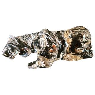 Vintage Baccarat Crouching  Crystal  Tiger