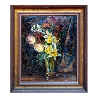 Elisabeth Von Wundt Floral Bouquet Still Life Oil Painting