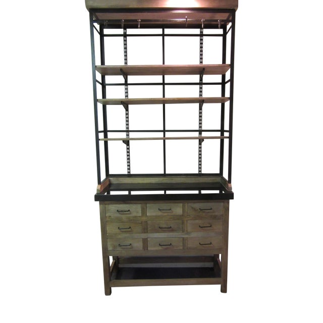 Inudstrial Back Hutch & Stone Type Top - Image 1 of 11
