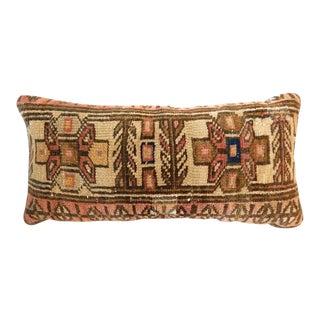 19th Century Hamadan Fragment Lumbar Pillow