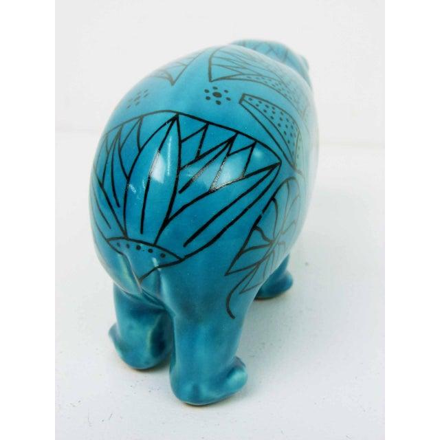 Bitossi Style Italian Blue Hippo Figurine - Image 5 of 7