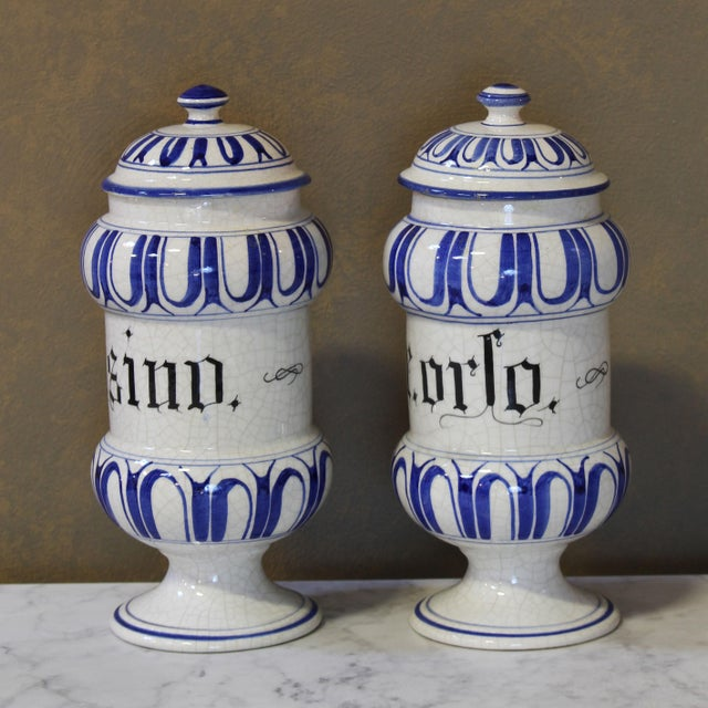 Vintage Italian Apothecary Jars - A Pair - Image 4 of 8