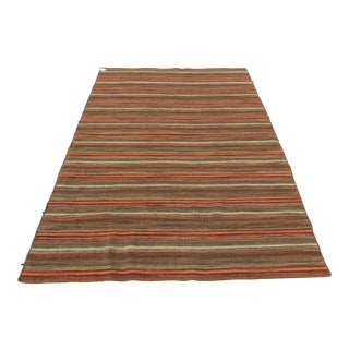 "Hand Knotted Indian Sumac Rug - 5'1"" x 7'11"""