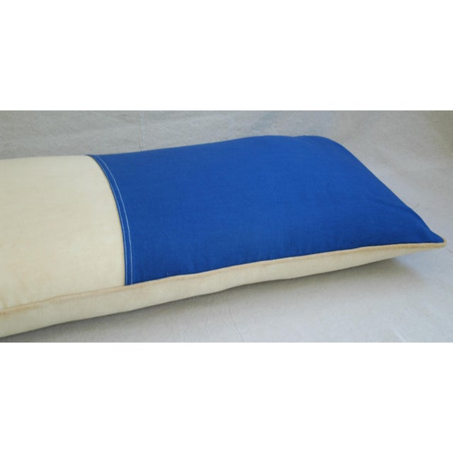 1950s french tricolor flag large custom body pillow chairish. Black Bedroom Furniture Sets. Home Design Ideas