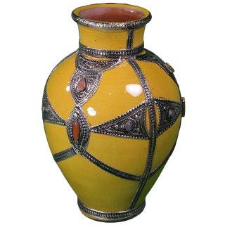 Orange Moroccan Ceramic Vase