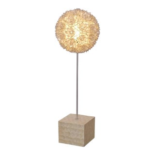 Huge Capiz of Mother of Pearl Shell Floor Lamp