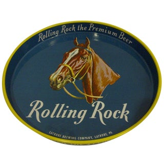 1950s Rolling Rock Beer Serving Tray