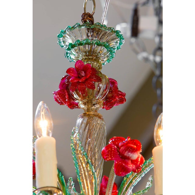Colorful Vintage Murano Glass Chandelier circa 1920 - Image 3 of 4