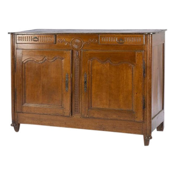 Image of 1880's French Buffet with Carving Details