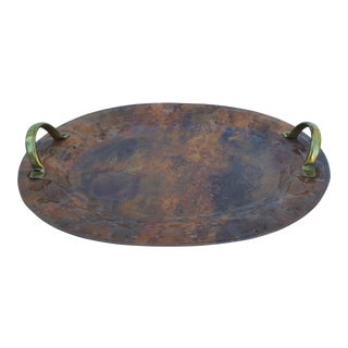 Italian Handcrafted Copper and Brass Tray