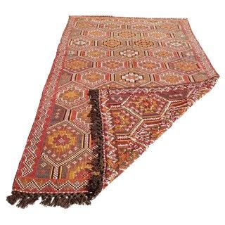 "Anatolian Vintage Turkish Kilim Rug, 5' 3"" x 9' 4"""