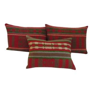 19th Century Horse Blanket Bolster Pillows