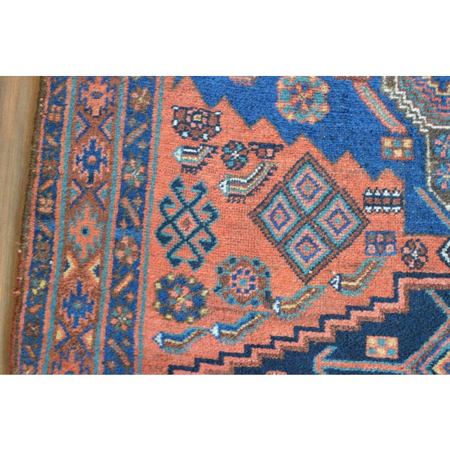 "Antique Persian Bidjar Long Rug - 4'5"" x 8'3"" - Image 7 of 9"