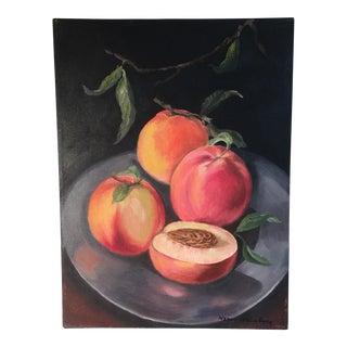 Nancy Weinberg Peaches Still Life Painting