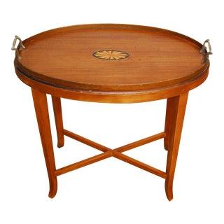 Vintage Oval Tea Table or Drinks Table