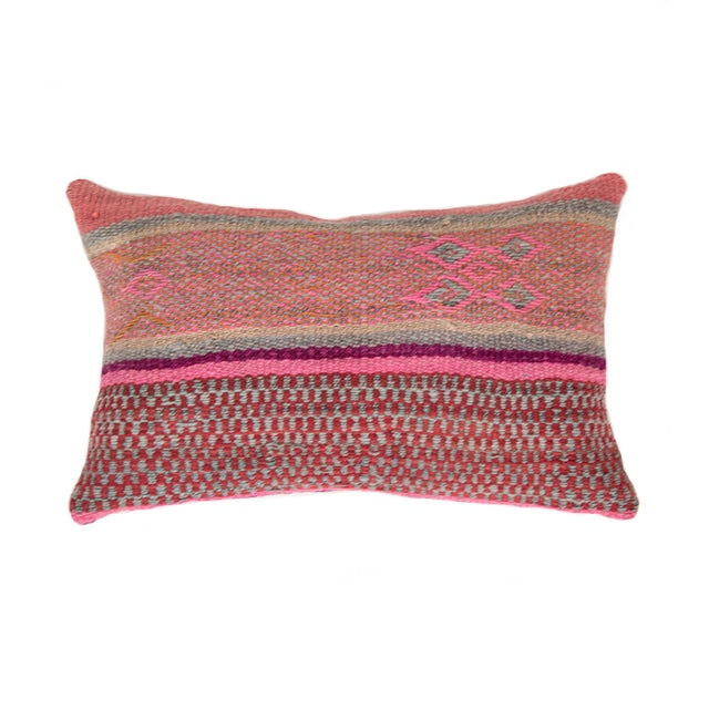 Pink/Red Handwoven Peruvian Pillow - Image 1 of 4