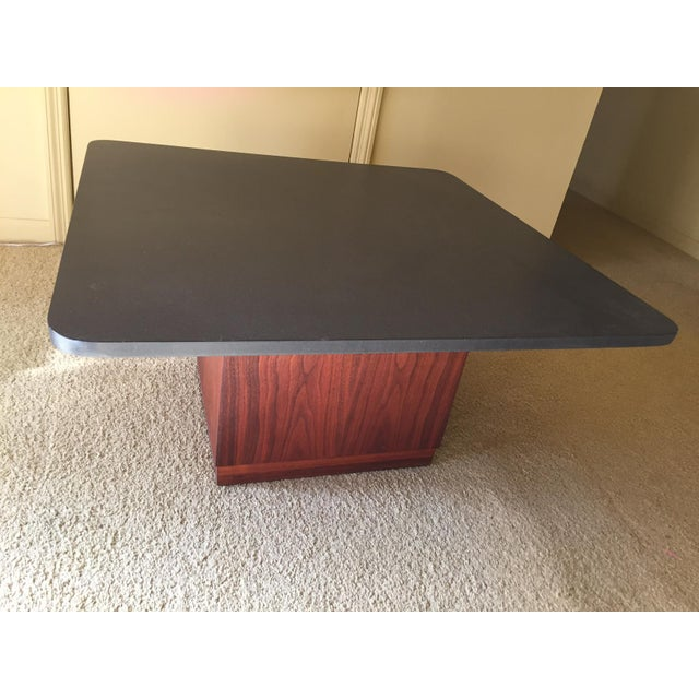 Mid-Century Modern Slate Top Coffee Table - Image 5 of 5