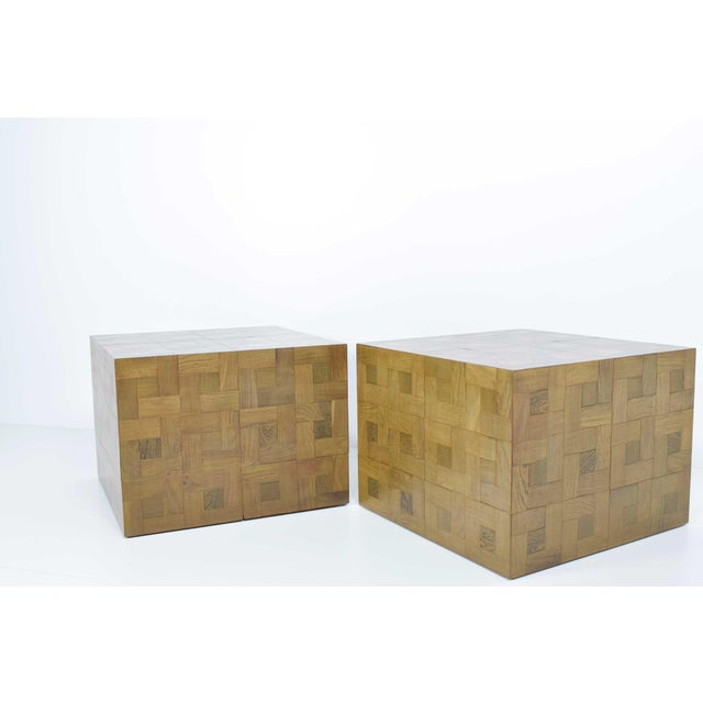 Pair of Parquet Oak Side or Coffee Tables - Image 7 of 7