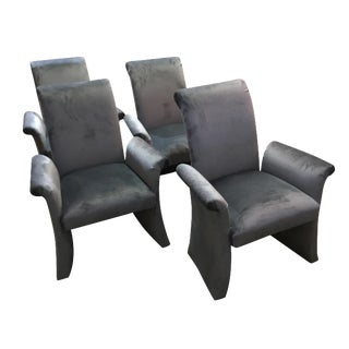 Mid-Century Grey Accent/Dining Chairs - Set of 4