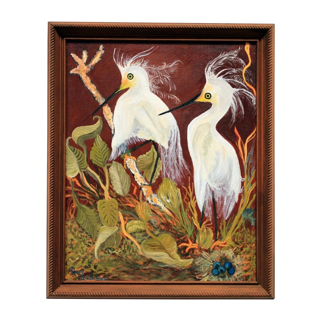 """""""Birds of a Feather"""" Original Oil Painting - Image 1 of 7"""