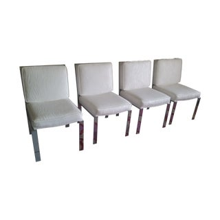Mid-Century Modern Chrome Dining Chairs - Set of 4