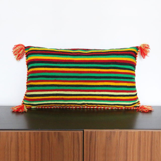 Handcrafted Moroccan Kilim Pillow II - Image 3 of 7