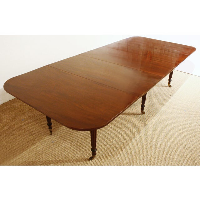 ENGLISH REGENCY DINING TABLE IN THE MANNER OF GILLOWS - Image 2 of 8