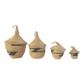 Rwandan Tutsi Nesting Baskets - Set of 4
