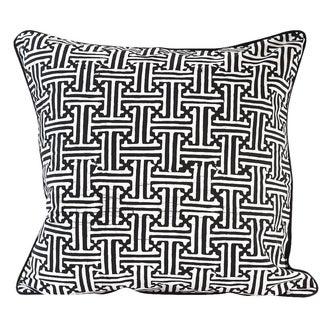 Black Javanese Batik Pillow Cover