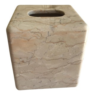 Marble Alabaster Tissue Box Cover