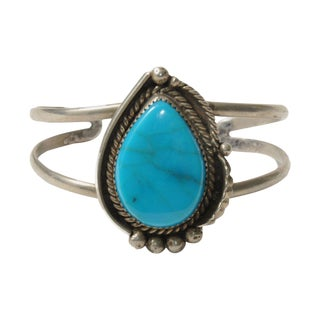 Vintage Faux-Turquoise Stone Cuff