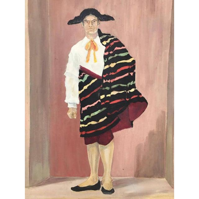 Mid-Century Spanish Bullfighter Painting - Image 2 of 6
