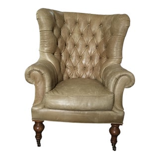 Lilian August Tufted Leather Chair