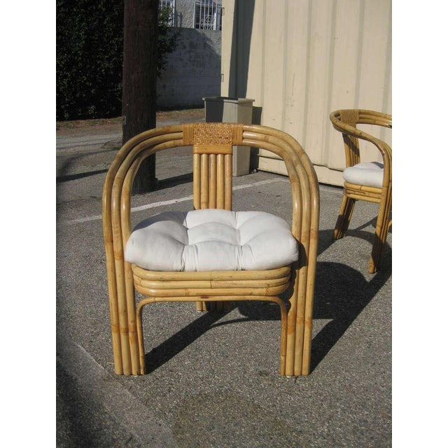 Image of Paul Frankl Style Bamboo Dining Set