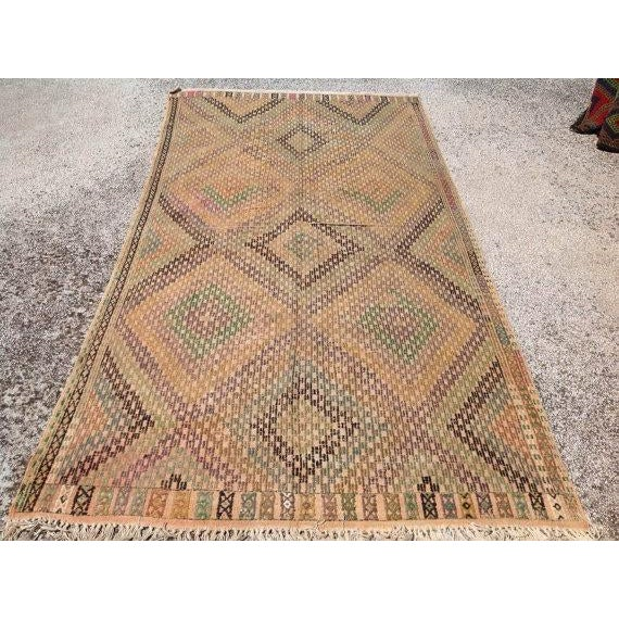 Vintage Turkish Kilim Rug - 5′4″ × 10′4″ - Image 2 of 6