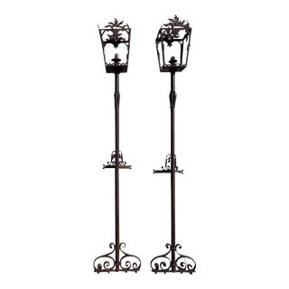 Antique French Wrought Iron Street Lights