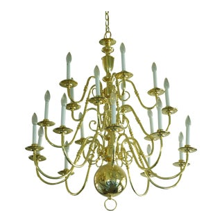 Williamsburg Candle Style Brass Chandelier
