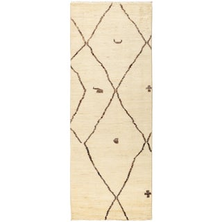 """Moroccan Hand-Knotted Runner Rug - 2'10"""" x 8'2"""""""