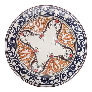 Atlas Navy & Orange Ceramic Plate