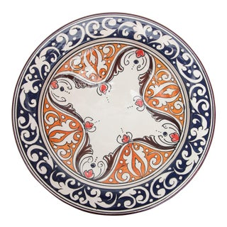 Atlas Navy & Orange Ceramic Plate