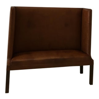 Hans Wegner Style Custom Leather Bench