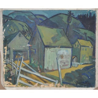 Vintage Country Farm Landscape Painting